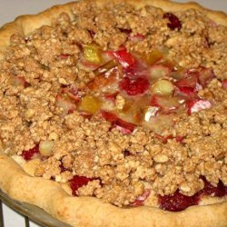 Rhubarb Raspberry Custard Pie