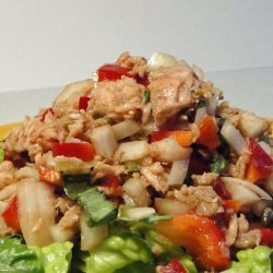 Tuna Salad With Bell Peppers and Herbs (No Mayonnaise) recipe