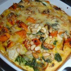 Feta, Sweet Potato and Spinach Crustless Quiche (Gluten-Free)