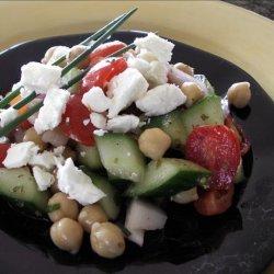 Garbanzo Bean Salad With Feta Cheese
