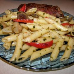 Penne Pasta With Multi-Colored Peppers
