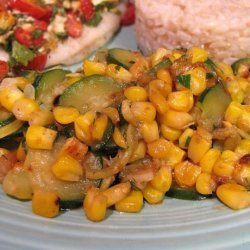 Garlicky Summer Squash and Fresh Corn