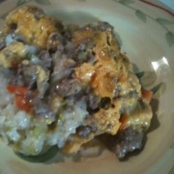 Ranch Sausage and Rice Casserole