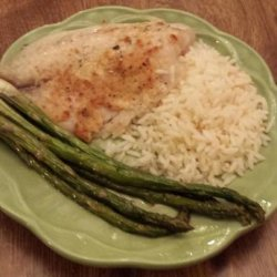 Super Easy Parmesan Crusted Tilapia