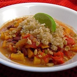 Tunisian Yam and Red Bean Stew (Slow Cooker Version)