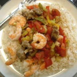 Slow Cooker Shrimp & Sausage Jambalaya