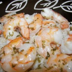 Quick Shrimp Scampi Bake