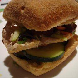 Vietnamese Chicken Sandwich (Banh Mi)