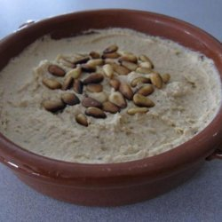 Hummus With Pine Nuts Turkish-Style