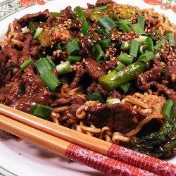 Sesame Beef and Asparagus Stir Fry