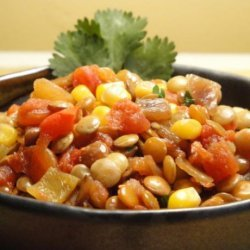 Lentil,corn and Sweet Pepper Chilli (Ww 5 Points) recipe