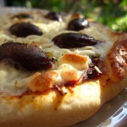 Lebanese Olive Pizza recipe