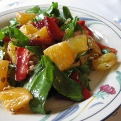 Salad Greens With Oranges, Strawberries and Vanilla Vinaigrette