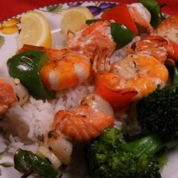 Greek Salmon and Seafood Skewers