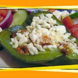 Low Carb Mediterranean Stuffed Bell Peppers