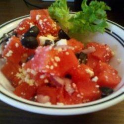 Watermelon, Feta and Olive Salad