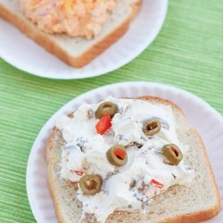 Cream Cheese and Olive Sandwiches