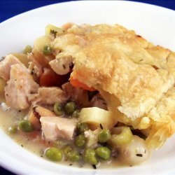 Low Fat Chicken Pot Pie With Puff Pastry!