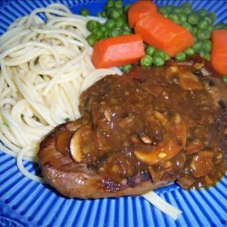French Onion Steak With Mushrooms