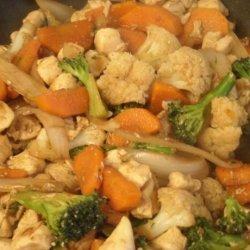 Leftover Veggie Chicken Stir-Fry