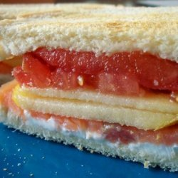 Smoked Salmon and Philadephia Sandwich