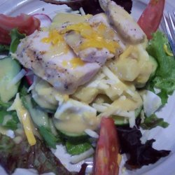Rustic Grilled Chicken Salad With Lite Honey Mustard Dressing