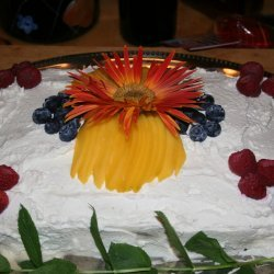 Tres Leches Cake with Seasonal Fruit