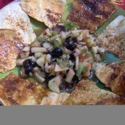 Fruit Salsa With Cinnamon Sugar Tortillas