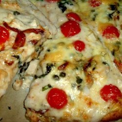 White Pizza With Caramelized Onion and Chicken