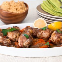 Moroccan Spiced Chicken with Lemon and Carrots recipe