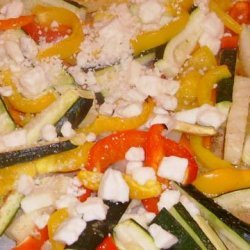 Medley of Oven Roasted Veggies With Lime Juice and Feta Cheese