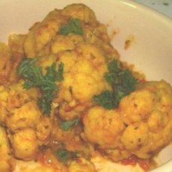Cauliflower in Coriander Cashew Sauce