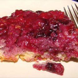 Blue-Raspberry Pudding Cake