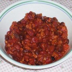 Kree's Sweet and  meaty  Vegetarian Chili