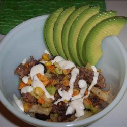 Taco Salad With Everything recipe