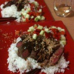 Beef Teriyaki With Cucumber Salsa