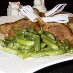 Honey & Mustard Lamb Cutlets With Baby Chats recipe