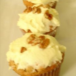 Banana Muffins With Mascarpone Cream Frosting or Spread
