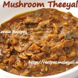 Kerala Mushroom Thiyal recipe