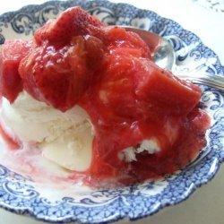 Strawberry-Rhubarb Sundaes