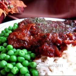 Crock Pot Beef Round Braised With Tomato & Herbs