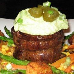 Beef Steak With Avocado Sauce