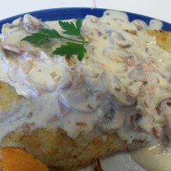 Pan-Fried Fish With Bacon-Mushroom Sauce