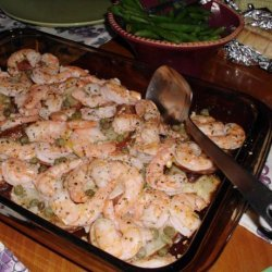 Roasted Jumbo Shrimp With Potatoes, Lemon and Capers