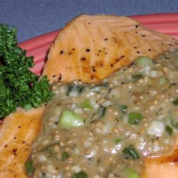 Salmon With Maple and Mustard Seed Sauce