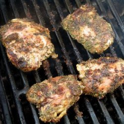 Grilled Herbed Chicken Thighs