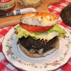 Killer Provolone-Stuffed Pesto Burgers