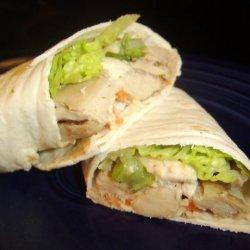 Fresh Asian Chicken Salad Wraps