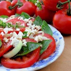 Vine Ripened Tomato, Sweet Onion and Basil Salad