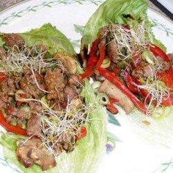 Moo Shu Beef Lettuce Cups - 4 Points